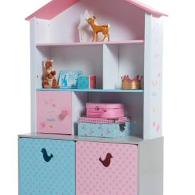 Regal in Puppenhausform für Mädchen von Vertbaudet