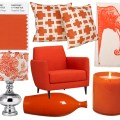 Pantone Color of the Year 2012: Tangerine Tango. Interior Design Stücke zusammengestellt von Washingtonian.com