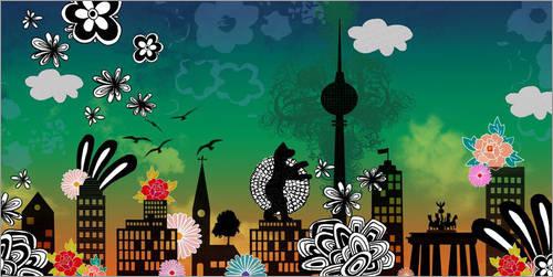 """Berlin-Poster """"berlinomat"""" von Elisandra (Foto von Posterlounge.de)"""