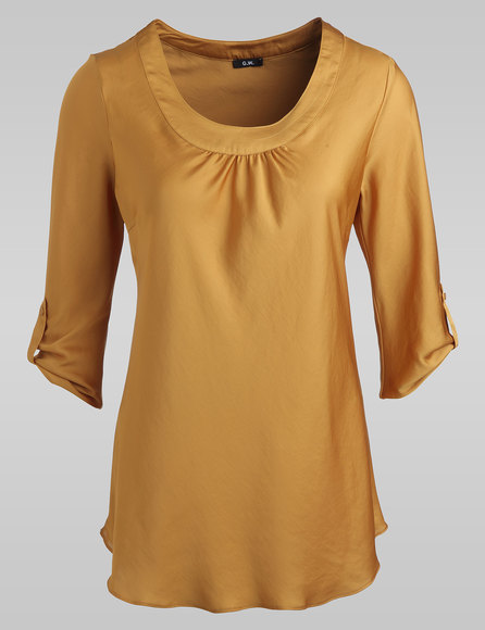 krempelbare bluse farbe curry gefunden bei gerry weber blusen unter. Black Bedroom Furniture Sets. Home Design Ideas