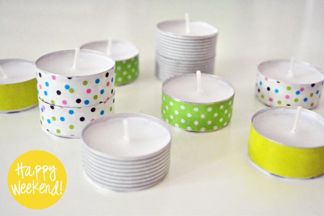 Leseliste #3: Fröhliche Farbtupfer mit Teelichtern und Washi-Tape