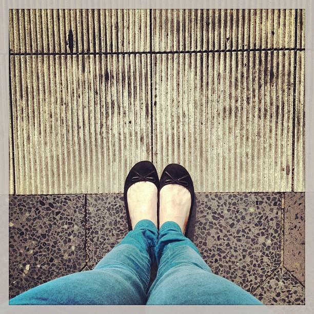 Ballerinasaison eröffnet. Mit Schleifchen. #FromWhereIStand #HashtagHunt