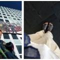 Eine Woche ohne Schwarz: Buntes Tuch und luftige Sandalen für Sommerlaune