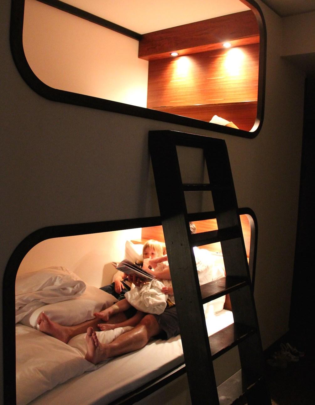 Super gemütlich: Das Stockbettzimmer im 25hours Hotel Hamburg Hafencity