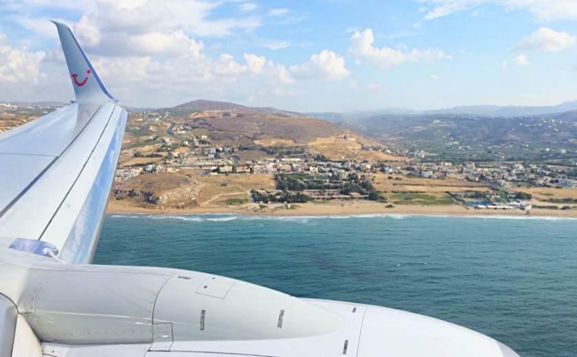 Anflug auf den Flughafen Heraklion