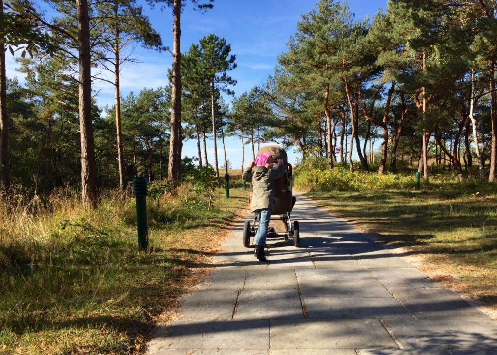 Ein kurzer Weg durch die Dünen zum Ostseestrand
