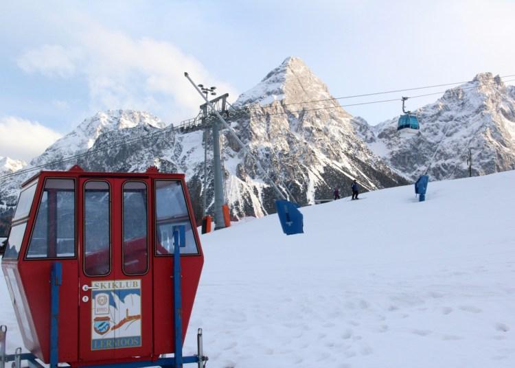 Skigebiet Grubigstein in Lermoos, Tirol