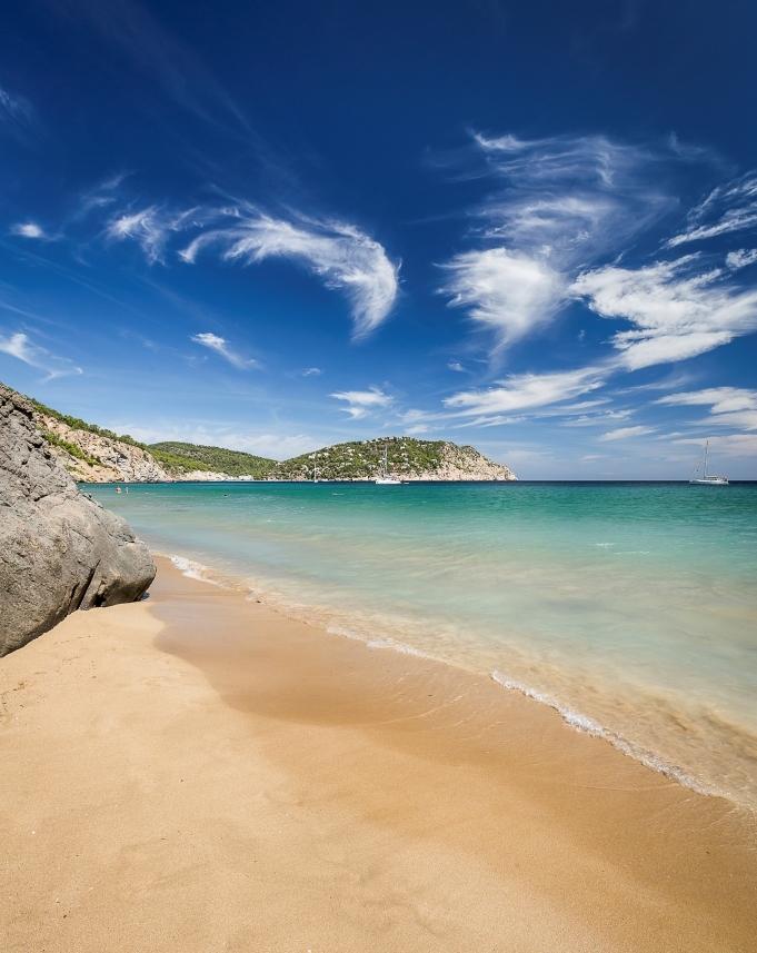 Ibiza: Perfekte Fotokulisse am Strand S' Aigua Blanca