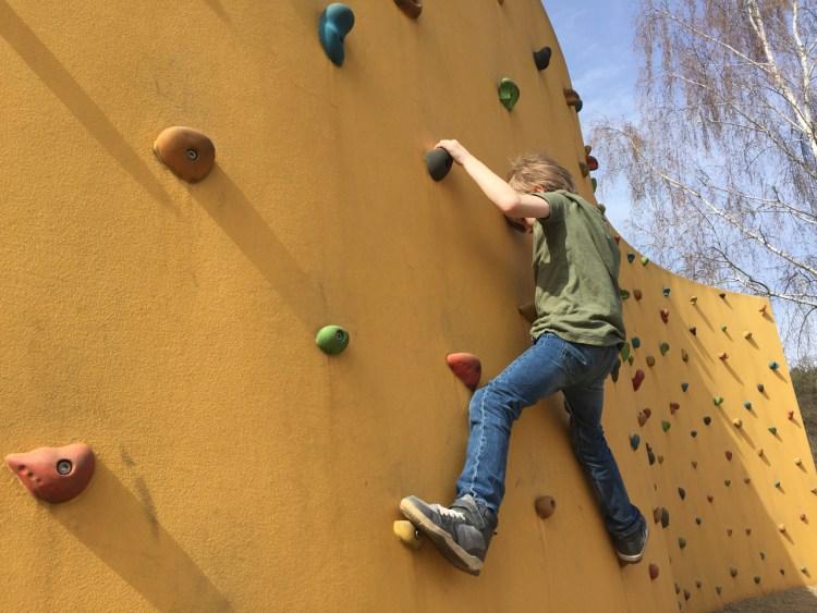 Kletterwand im Freizeitpark Wendisch-Rietz am Scharmützelsee