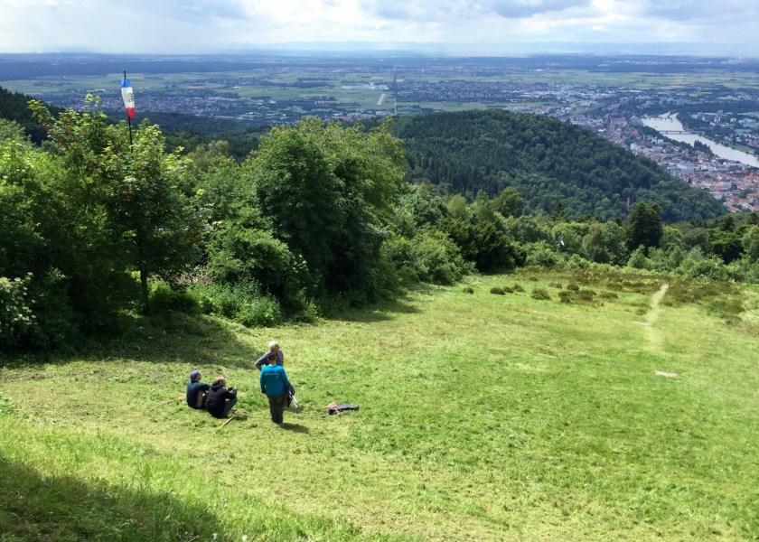 Ein wunderbarer Blick auf Heidelberg und die Umgebung vom Königsstuhl aus.