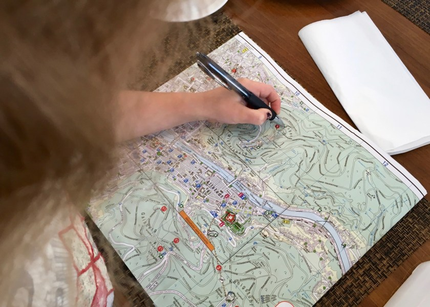 Der beste Tipp für Heidelberg mit der Familie: Lasst die Kinder den Tag mitplanen. Kind 2.0 macht sich schon mal Notizen.