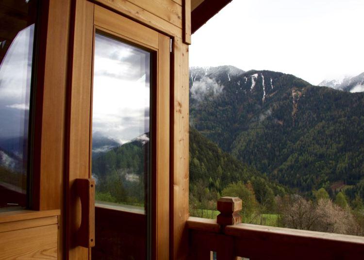 Der Moment, in dem ich auch eine Sauna mit Bergblick auf dem Balkon haben wollte...