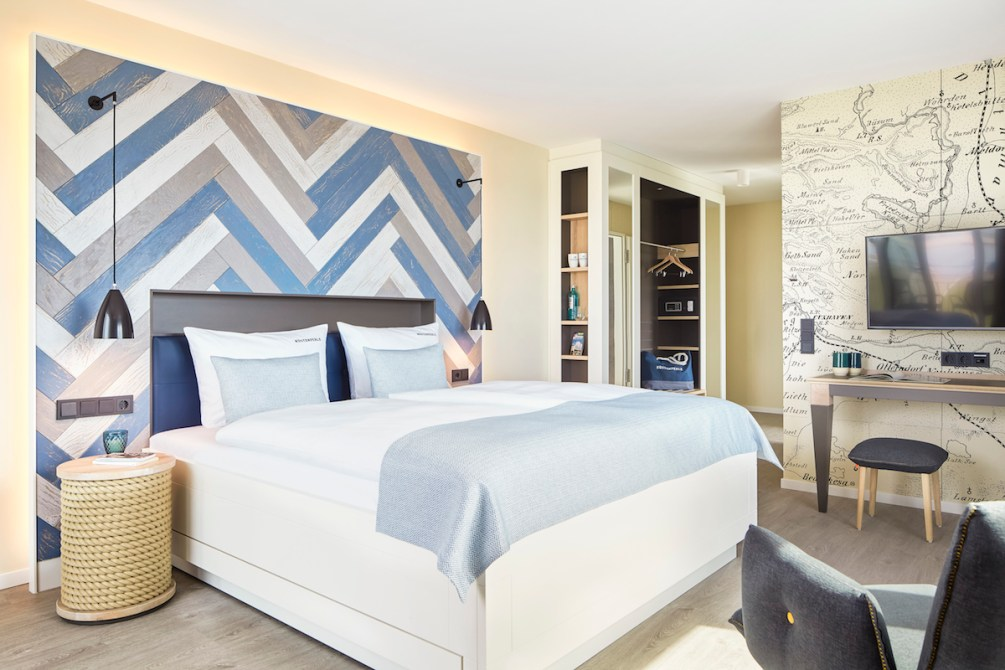 Doppelzimmer Komfort im familienfreundlichen Hotel Küstenperle in Büsum