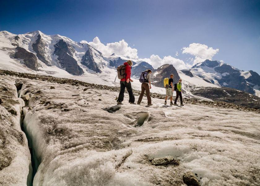 Schweiz mit Kindern: Ideen für den Familienurlaub in Graubünden, Morteratsch Gletscher, Foto: Graubünden Ferien/Andrea Badrutt
