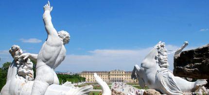 Blick über den Pleasureground in Schönbrunn