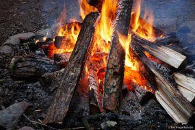 Gemütlich mit Lagerfeuer