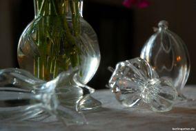 Schön bei Sonne und Kerzenlicht: glänzendes Kristall