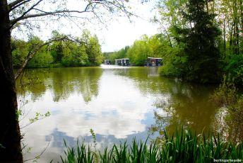 Häuser im See im Center Parcs Bispingen - Achtung: Dies sind die der höchsten Kategorie