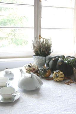 Halloween Tisch dekoriert