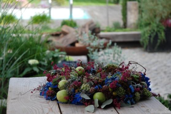 Ein Herbstkranz als Werkstück des Blumen-Profis