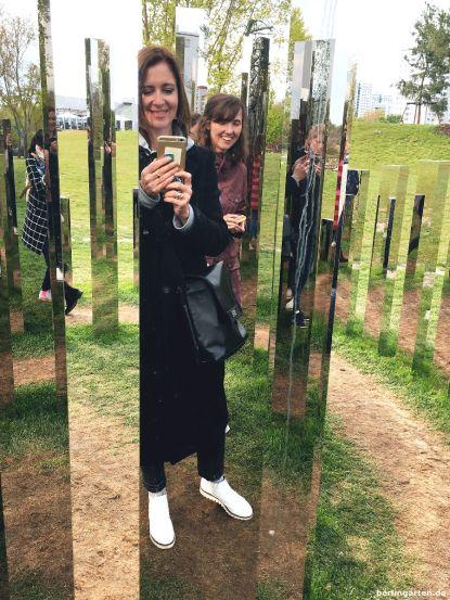 Macht Spaß: das Spiegellabyrinth