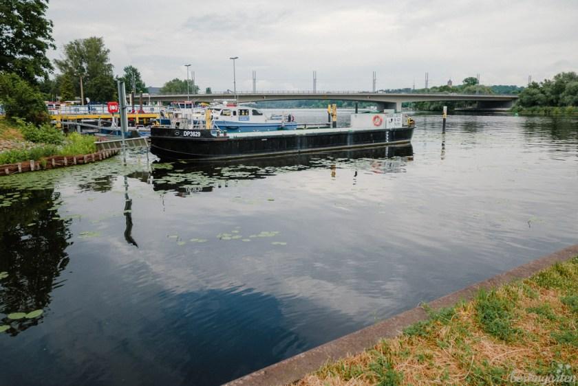 Havel mit Blick auf Humboldtbrücke