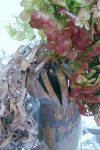 Keramikvase Hortensie