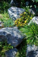 Garant für einen Steingarten de luxe: GROSSE Steine der Region verwenden
