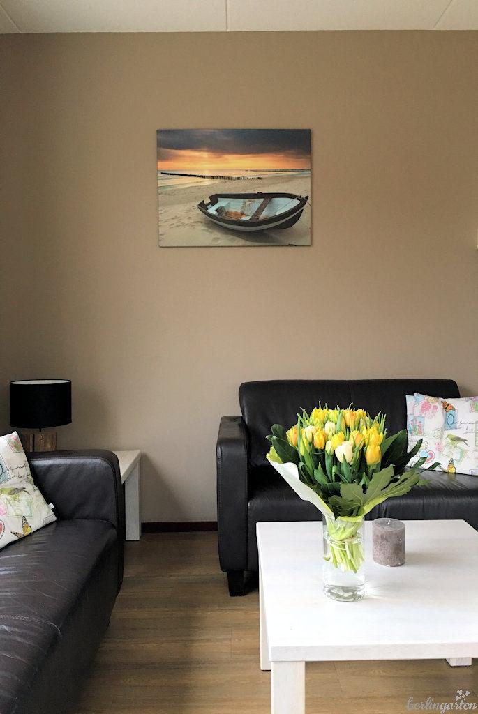 Wohnzimmer - natürlich mit Tulpen
