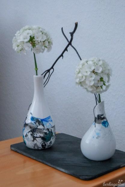 Detail Vasen Nagellack-Technik