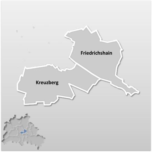 Stadtbezirk FriedrichshainKreuzberg  Berlin