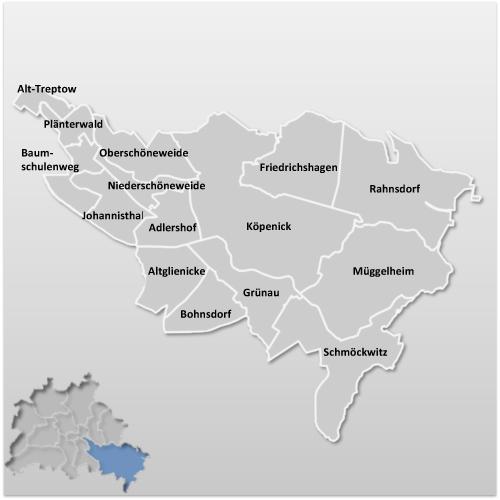 Stadtbezirk TreptowKpenick  Berlin  Berlinstadtservice