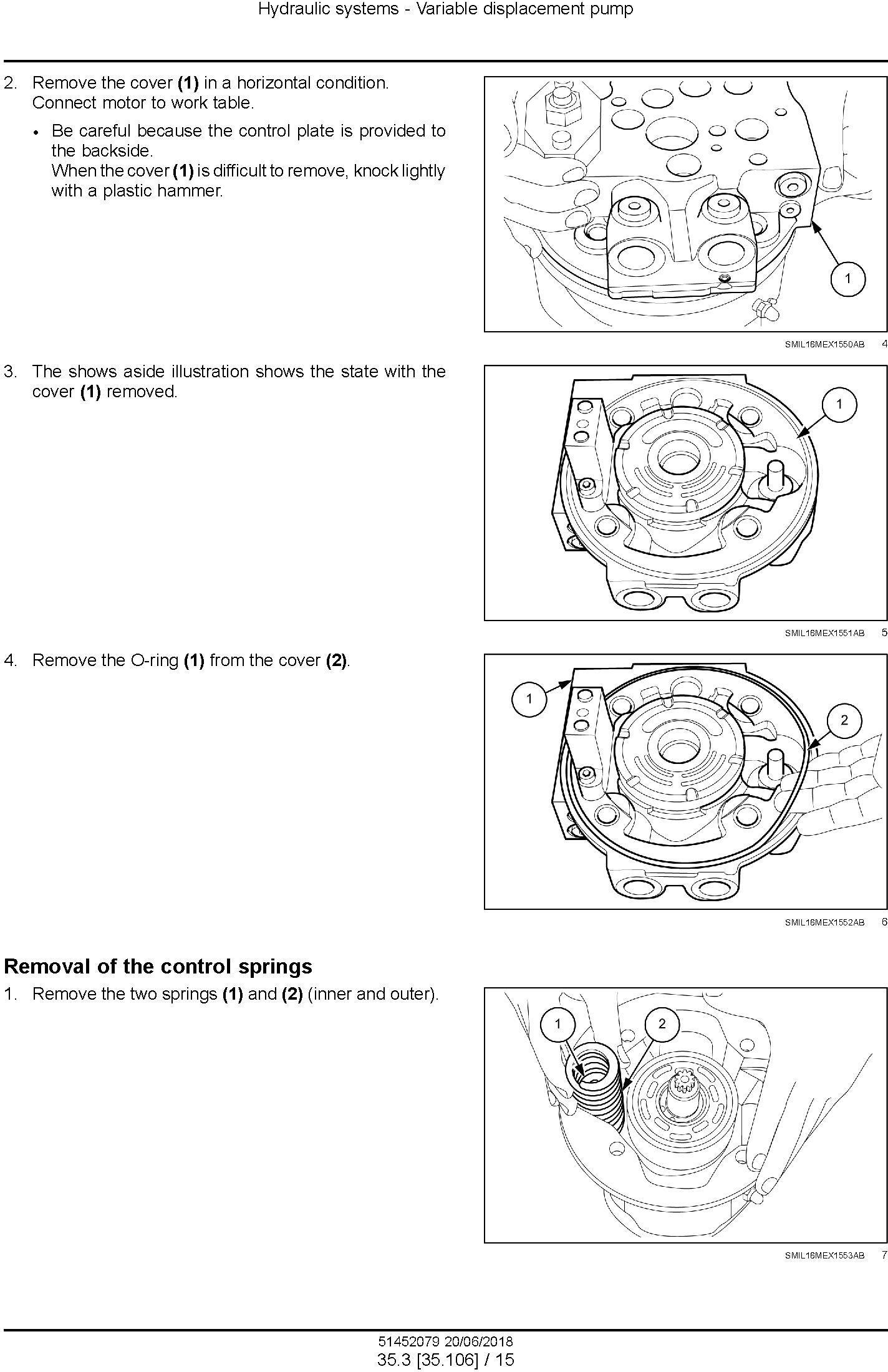 New Holland E57C Mini Excavator Service Manual (USA