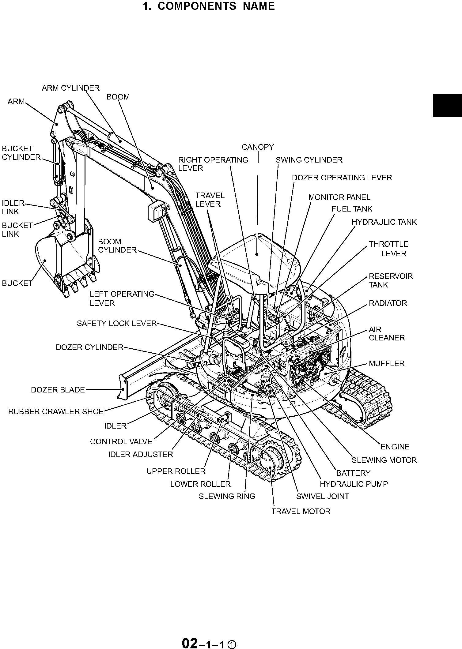 New Holland EH45 Compact Excavator Service Manual / Truck