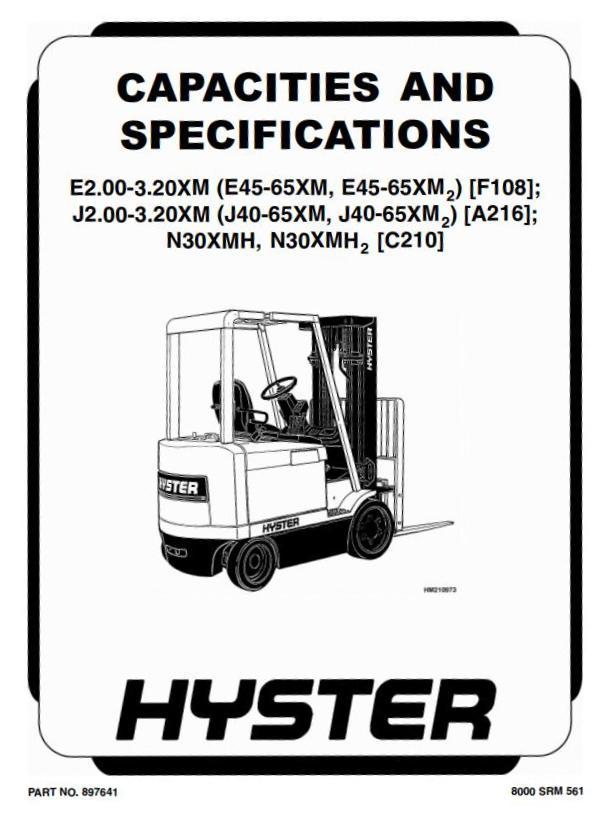 Hyster E45XM2, E50XM2, E55XM2, E60XM2, E65XM2 Electric
