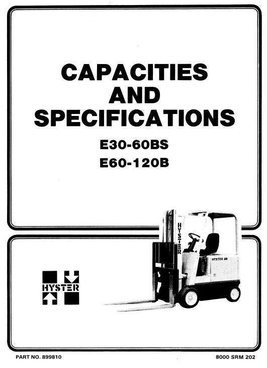 Hyster E30B, E40B, E50B, E60BS Electric Forklift Truck