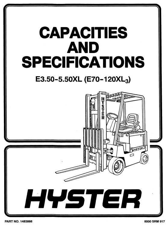 Hyster E3.50XL, E4.00XL, E5.00XL, E5.00XL, E5.50XL
