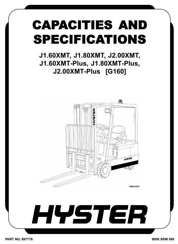 Hyster J1.60XMT, J1.80XMT, J2.00XMT Electric Forklift