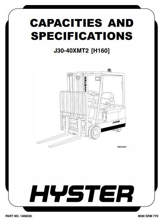 Hyster J30XMT2, J35XMT2, J40XMT2 Electric Forklift Truck