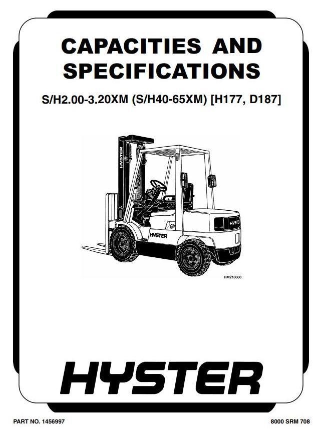 Hyster H2.00XM, H2.50XM(X), H3.00XM(X), H3.20XML Forklift