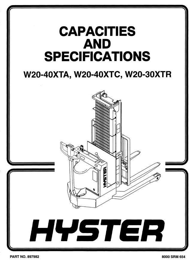 Hyster W20-30-40 XTA, W20-25-30-40 XTC, W20-30 XTR Pallet