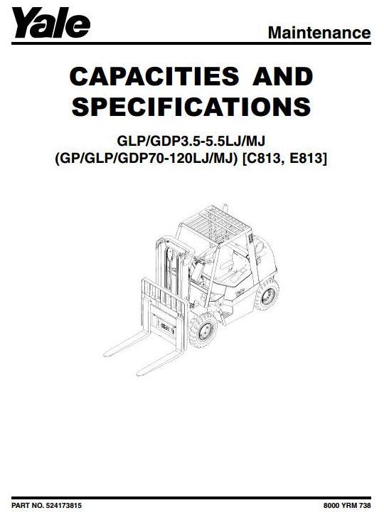 Yale GP/GLP/GDP 70LJ/80LJ/90LJ/100MJ/110MJ/120MJ Diesel