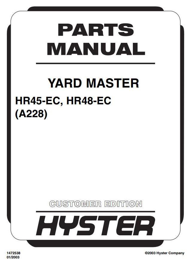 Hyster HR45-EC, HR48-EC Diesel Container Handler A228