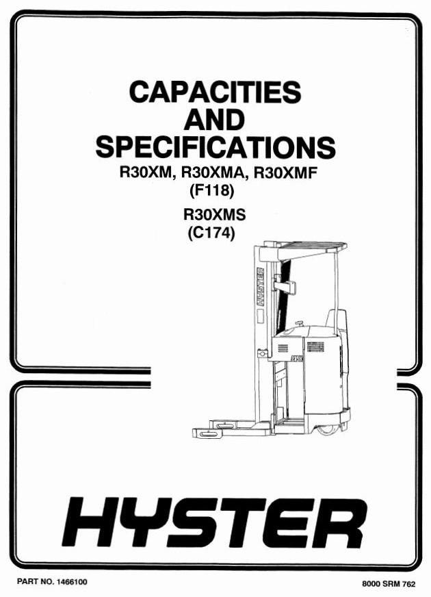 Hyster R30XMS Electric Reach Truck C174 Series Workshop