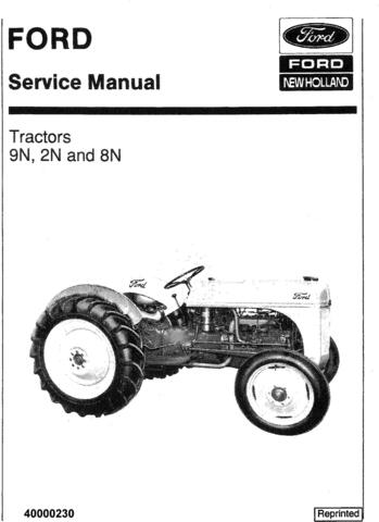 Ford 9N 2N 8N Tractor Service Manual / Truck Service