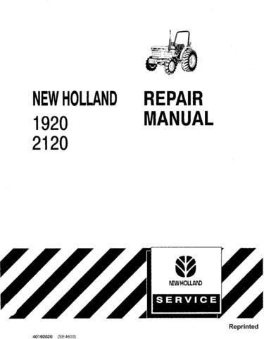 Ford , New Holland 1920, 2120 Tractors Service Repair