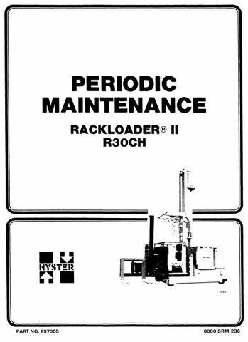 Hyster R30CH Electric RackLoader A186 Series Workshop