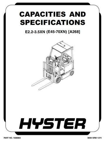 Hyster E45XN, E50XN, E55XN, E60XN, E65XN, E70XN Electric