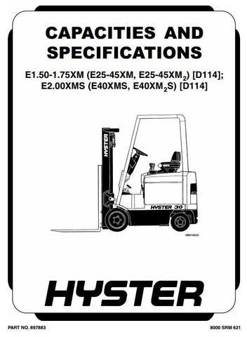 Hyster E25XM, E30XM, E35XM, E40XMS Electric Forklift Truck
