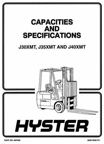 Hyster J30XMT, J35XMT, J40XMT Electric Forklift Truck F160